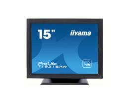 """Monitor LED 21"""" i mniejszy iiyama T1531SAW-B5 dotykowy czarny"""