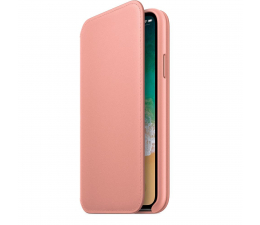 Etui / obudowa na smartfona Apple Leather Folio do iPhone X Soft Pink