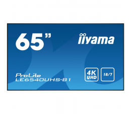 "Monitor LED 32"" i większy iiyama LE6540UHS LFD 4K"