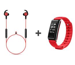 Słuchawki bezprzewodowe Huawei AM61 Sport Bluetooth Czerwone + Band A2 czerwony
