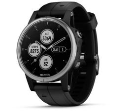 Zegarek sportowy Garmin Fenix 5S Plus Srebrny z Czarnym Paskiem