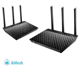 System Mesh Wi-Fi ASUS RT-AC67U AiMesh (1900Mb/s a/b/g/n/ac) zestaw 2szt.