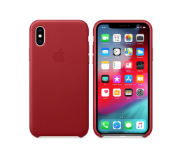 Etui/obudowa na smartfona Apple iPhone XS Leather Case Product Red