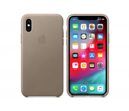 Etui / obudowa na smartfona Apple iPhone XS Leather Case Taupe