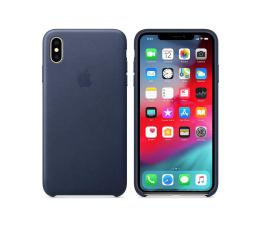 Etui / obudowa na smartfona Apple iPhone XS Max Leather Case Midnight Blue