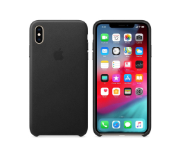 Etui/obudowa na smartfona Apple iPhone XS Max Leather Case Black