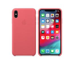 Etui / obudowa na smartfona Apple iPhone XS Max Leather Case Peony Pink