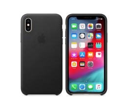 Etui/obudowa na smartfona Apple iPhone XS Leather Case Black