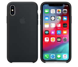 Etui/obudowa na smartfona Apple iPhone XS Silicone Case Black