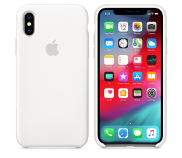 Etui/obudowa na smartfona Apple iPhone XS Silicone Case White