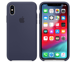 Etui/obudowa na smartfona Apple iPhone XS Silicone Case Midnight Blue