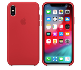 Etui/obudowa na smartfona Apple iPhone XS Silicone Case Product Red