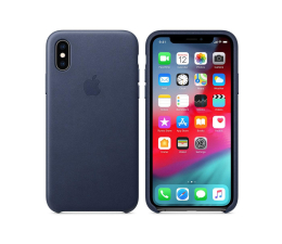 Etui/obudowa na smartfona Apple iPhone XS Leather Case Midnight Blue