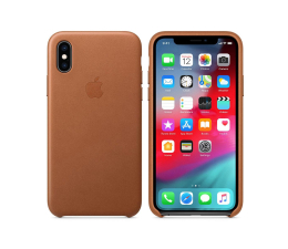 Etui/obudowa na smartfona Apple iPhone XS Leather Case Saddle Brown