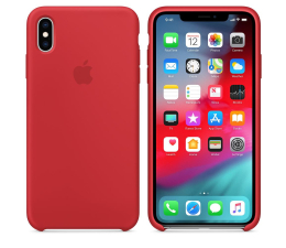 Etui/obudowa na smartfona Apple iPhone XS Max Silicone Case Product Red