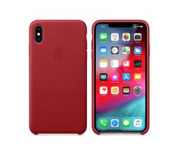 Etui / obudowa na smartfona Apple iPhone XS Max Leather Case Product Red