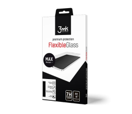 Folia / szkło na smartfon 3mk Flexible Glass MAX do Apple iPhone X/Xs Black