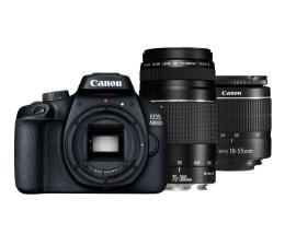 Lustrzanka Canon EOS 4000D 18-55mm III+ 75-300mm III