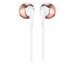 Słuchawki przewodowe JBL T205 Różowe złoto