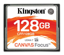 Karta pamięci CF Kingston 128GB Canvas Focus zapis :130MB/s odczyt :150MB/s