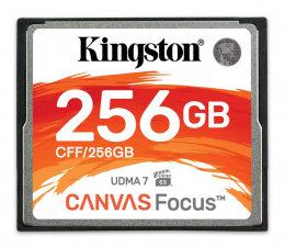 Karta pamięci CF Kingston 256GB Canvas Focus zapis: 130MB/s odczyt: 150MB/s