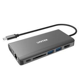 Hub USB Unitek Hub USB-C - HDMI, 2xUSB, RJ-45, VGA (100W, PD)