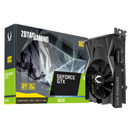 Karta graficzna NVIDIA Zotac GeForce GTX 1650 Gaming OC 4GB GDDR5