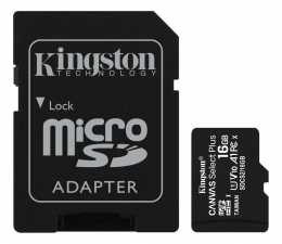 Karta pamięci microSD Kingston 16GB microSDHC Canvas Select Plus 100MB/s