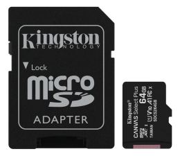 Karta pamięci microSD Kingston 64GB microSDHC Canvas Select Plus 100MB/s