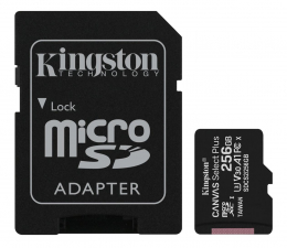 Karta pamięci microSD Kingston 256GB microSDXC Canvas Select Plus 100MB/85MB/s