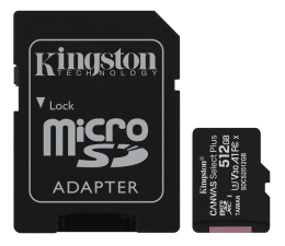 Karta pamięci microSD Kingston 512GB microSDXC Canvas Select Plus 100MB/85MB/s