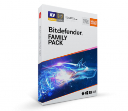 Program antywirusowy Bitdefender Family Pack 2020 15st. (36m.) ESD