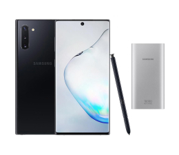 Smartfon / Telefon Samsung Galaxy Note 10 Aura Black + PowerBank 10000mAh