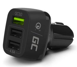 Ładowarka do smartfonów Green Cell Ładowarka Samochodowa 3xUSB Quick Charge 3.0
