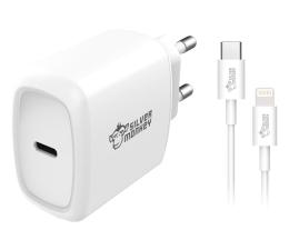 Ładowarka do smartfonów Silver Monkey Ładowarka sieciowa USB-C, 18W + Kabel Lightning
