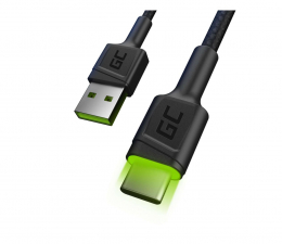Kabel USB Green Cell Kabel USB - USB-C 1.2m (QC 3.0, LED)