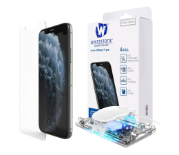 Folia/szkło na smartfon Whitestone Szkło Hartowane Dome Glass + UV do iPhone 11 Pro