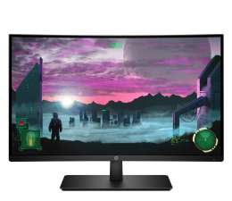 "Monitor LED 27"" HP 27x Curved Gaming"