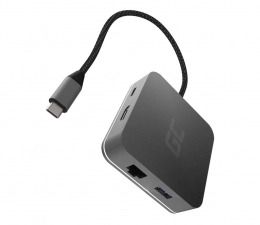 Stacja dokująca do laptopa Green Cell USB-C - USB-C, 3xUSB, HDMI, RJ-45