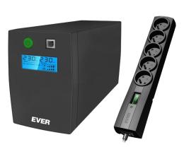 Zasilacz awaryjny (UPS) Ever Easyline 850AVR + listwa antyprz. Classic 5m