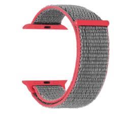 Pasek / bransoletka TOPP Pasek do Apple Watch 42/44mm Nylon Siatka różowy