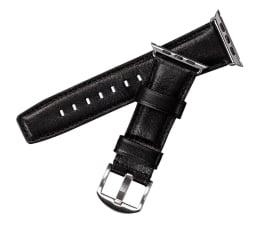 Pasek / bransoletka Sena Skórzany Pasek do Apple Watch 42/44mm czarny