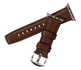 Pasek / bransoletka Sena Skórzany Pasek do Apple Watch 42/44mm brązowy