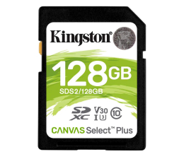 Karta pamięci SD Kingston 128GB Canvas Select Plus odczyt 100MB/s