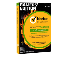 Program antywirusowy NortonLifeLock Security Standard Gamers Edition 1st.(12m.)