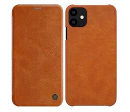 Etui / obudowa na smartfona Nillkin Etui Skórzane Qin do iPhone 11 brązowy