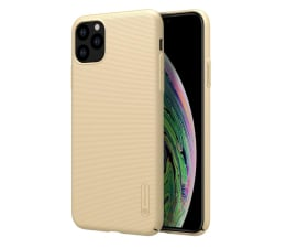 Etui / obudowa na smartfona Nillkin Super Frosted Shield do iPhone 11 Pro Max złoty