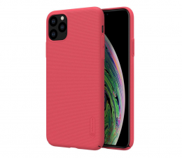 Etui / obudowa na smartfona Nillkin Super Frosted Shield do iPhone 11 Pro czerwony