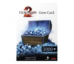 Gra na PC PC Guild Wars 2 2000 Gems Card ESD