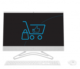 All-in-One HP 24 AiO i5-9400T/8GB/960 IPS White
